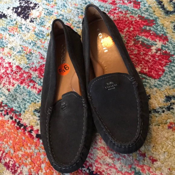 346072a3d83 Coach Amber Suede Loafers